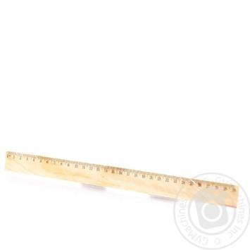 Линейка деревянная 30см - купить, цены на Ашан - фото 2