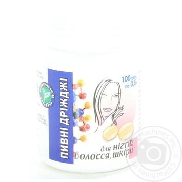 Дріжджі пивні для покращення нігтів,волосся та шкіри №100 Європлюс