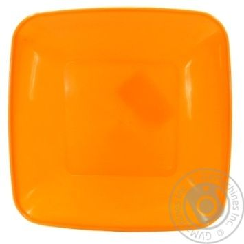 Тарелка Пластторг квадратная пластиковая 19x19см