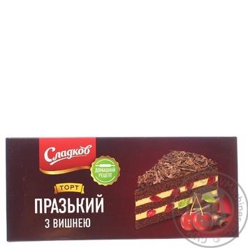 Торт Пражский з вишнею ТМ Сладков 500гр