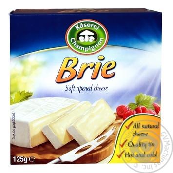 Сыр Kaserei Export Brie с плесенью 50% 125г - купить, цены на Фуршет - фото 1