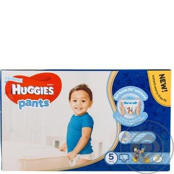 Подгузники-трусики Huggies для мальчиков 5 12-17кг 68шт/уп - купить, цены на Метро - фото 5