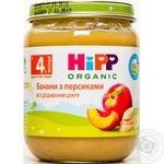 Пюре ХиПП Бананы с персиками без сахара для детей с 4 месяцев стеклянная банка 125г Венгрия