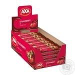 Candy bar Axa grains strawberries with cream 25g Ukraine