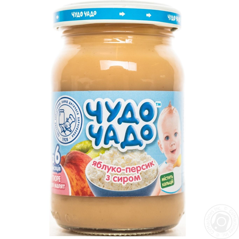 Пюре Чудо-Чадо яблуко-персик з сиром з 6-ти місяців 170г → Дитяче ... 065aa2988e1bc