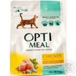 Корм для взрослых котов Optimeal курица сухой 300г