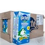 Молоко Лактель Легкое утро низколактозное ультрапастеризованное 1.5% 1000г тетрапакет Украина