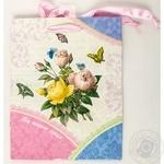 Пакет Happycom паперовий для подарунку Квіти 18*23*10см