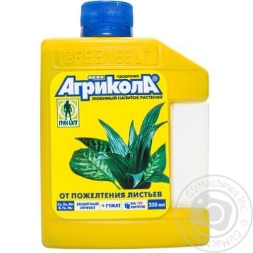 Добриво Аква від пожовтіння листя Агрікола 250мл. 04-447 - купить, цены на Novus - фото 1