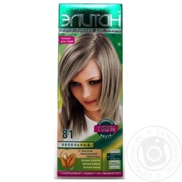 Крем-фарба для волосся Елітан 100 №81 Попелястий