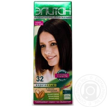 Крем-фарба для волосся Елітан 100 №32 Коричневий