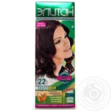 Крем-фарба для волосся Елітан 100 №22 Вишневий