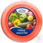 Набор емкостей круглых Helfer пластик 0,3х0,5х1х2л