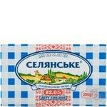 Масло Селянское сладкосливочное 82% 200г