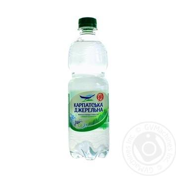 Вода Карпатская Джерельна слабогазированная пластиковая бутылка 500мл Украина