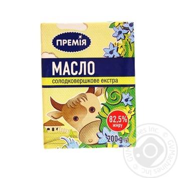 Масло Премія сладкосливочное экстра 82,5% 200г