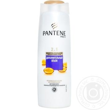 Шампунь и бальзам-ополаскиватель Pantene 2в1 Дополнительный объем без утяжеления для тонких волос 400мл