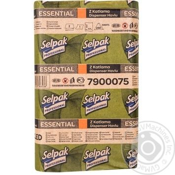 Selpak Professional Paper towels one-layer 250 sheets - buy, prices for Metro - image 4