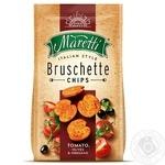 Хлебные брускеты Maretti запеченные со вкусом помидоры оливки орегано 70г