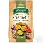 Хлібні брускети Maretti запечені зі смаком овочевий мікс-гострий 70г