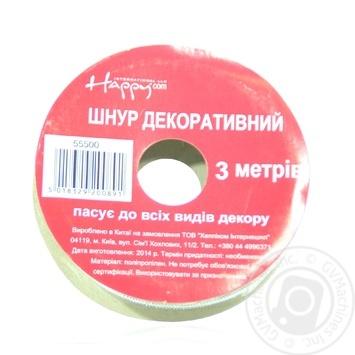 Шнур декоративний Happycom металік 4м в асортименті арт.55500