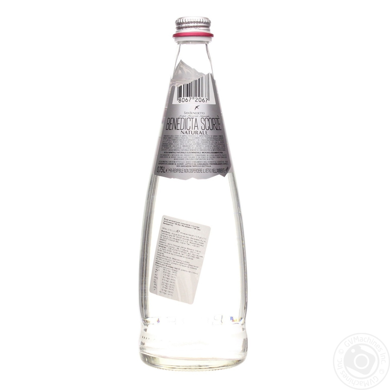 Still Mineral Water San Benedetto Glass Bottle 750ml Italy