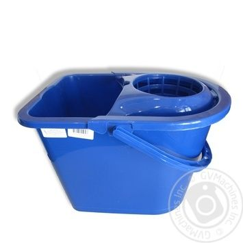 York Rectangular Bucket With Squeeze 14L - buy, prices for Auchan - photo 1