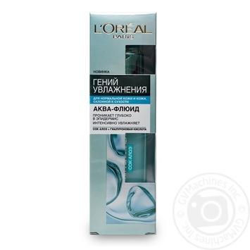 Гель L'Oreal Аква-флюїд денний для нормальної шкіри та шкіри схильної до сухості 70мл