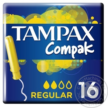 Tampax Compak Tampons Regular with applicator 16pcs - buy, prices for Novus - image 1