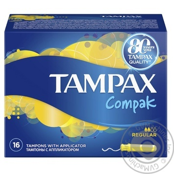 Тампоны Tampax Compak Regular 16шт - купить, цены на Метро - фото 2