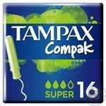 Тампоны Tampax Compak Super Economy 16шт - купить, цены на МегаМаркет - фото 1