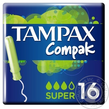 Tampax Compak Super Tampons with applicator 16pcs - buy, prices for Furshet - image 1