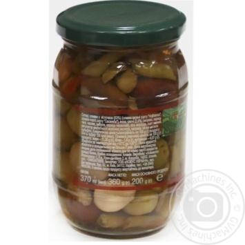 Асорті оливок з/к з овочами консервоване пастеризоване Feudo verde 360г - купити, ціни на Novus - фото 3