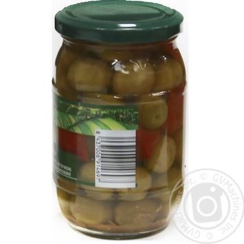 Оливки зелені Verdial з/к з овочами консервовані пастеризовані Feudo verde 360г - купить, цены на Novus - фото 2