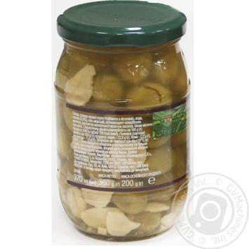 Оливки зелені Hojiblanca з/к з часником консервовані пастеризовані Feudo verde 360г - купить, цены на Novus - фото 3