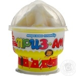 Морозиво Приз-АМ пломбір з підваркою Апельсин та Банан Ласунка 150г