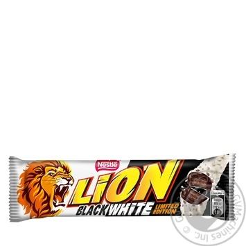Батончик шоколадный Nestle Lion Черное и белое вафельный 42г - купить, цены на Novus - фото 1