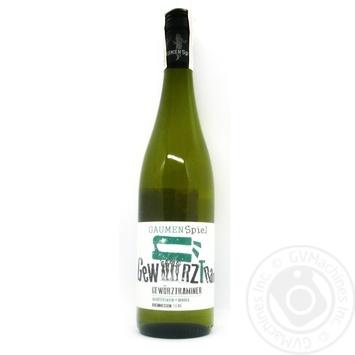 Вино Gaumenspiel Gewurztraminer Rheinhessen біле напівсолодке 10,5% 0,75л - купити, ціни на Novus - фото 1