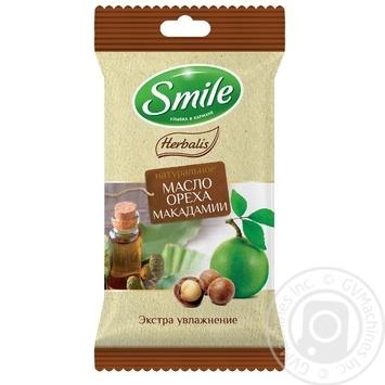 Салфетки влажные Smile Herbalis с маслами в ассортименте 10шт - купить, цены на Varus - фото 2