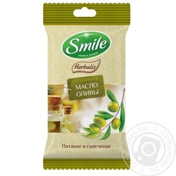Салфетки влажные Smile Herbalis с маслами в ассортименте 10шт - купить, цены на Varus - фото 3
