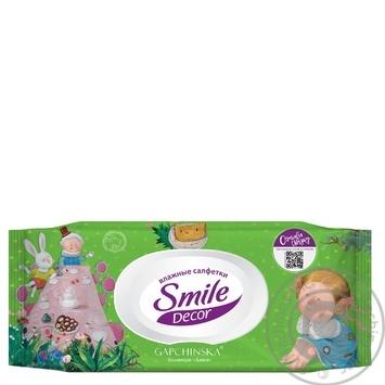 Салфетки влажные Smile Decor с клапаном в ассортименте 60шт - купить, цены на МегаМаркет - фото 2