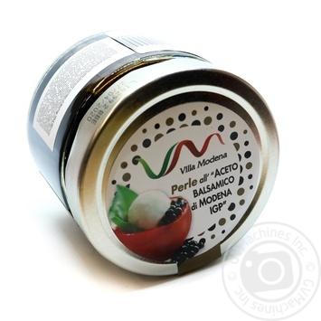 Перлини чорні з бальзамічного оцту пастеризовані Villa Modena скло 300мл - купить, цены на Novus - фото 1