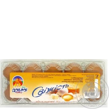 Яйца куриные От доброй курицы Свежесть С1 10шт - купить, цены на Ашан - фото 2