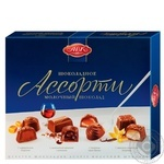 Конфеты АВК Ассорти молочный шоколад 200г
