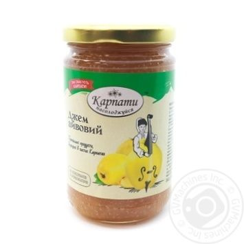 Jam Karpaty nasolodzhuisia quince 360g - buy, prices for Novus - image 1