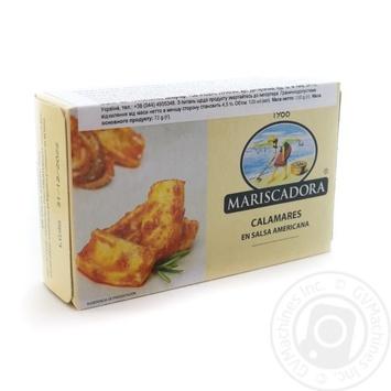Шматочки кальмара в американському соусі Mariscadora ж/б 120мл - купити, ціни на Novus - фото 1