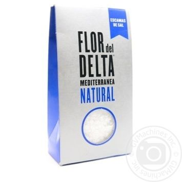 Cіль Гурме середземноморська крупна Flor del Delta картонна упаковка 125г - купить, цены на Novus - фото 1