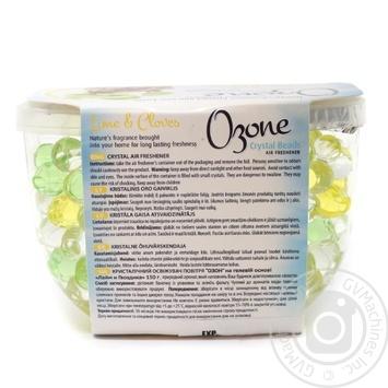 Кристаллический освежитель воздуха Ozone Crystal Beads на основе геля лайм и гвоздика 150г - купить, цены на Novus - фото 2