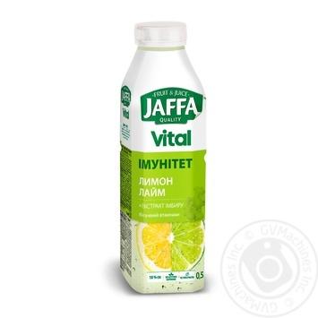 Напиток соковый Jaffa Vital Иммунитет Лимон-Лайм с экстрактом имбиря 0,5л - купить, цены на Novus - фото 1