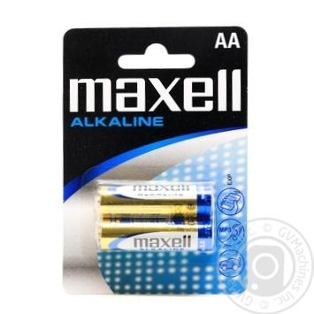 Батарейка Maxell alkaline LR6 AA 2шт - купить, цены на Таврия В - фото 1